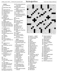 the new york times crossword in gothic june 2015