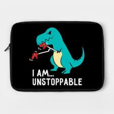 Unstoppable Dinosaur Meme - t rex dinosaur laptop cases teepublic