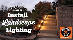 Outdoor Landscape Lighting Installing Outdoor Landscape Lighting Home Repair Tutor