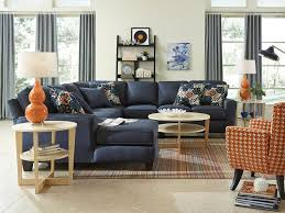 navy sectional sofa living room contemporary with high pile rug