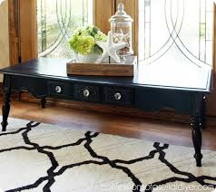 chalk paint coffee table black chalk paint coffee table
