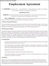 Employment Contract Template printable sle employment contract sle form laywers template
