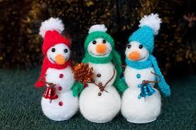 snowman felt ornament decorations needle