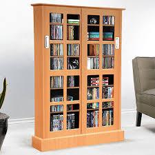 Dvd Storage Cabinet With Doors Media Storage Cabinet Cd Dvd Storage Organizer With Sliding Glass