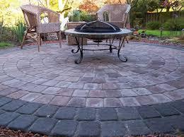 27 best stone patio paver firepit designs images on pinterest