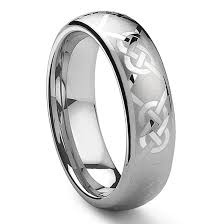 celtic knot ring kaylord tungsten carbide laser engraved celtic knot ring