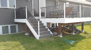deck support posts concrete or post base pro construction