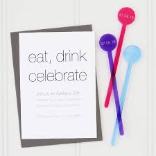 cocktail stirrer party invitations by twenty seven
