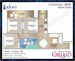 3 bhk apartment floor plan flats in sector 85 faridabad adore affordable 2 3 bhk flats floor