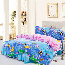 Aquarium Bed Set Free Shipping Tropical Fish Aquarium Ded Skirt Styles Bedding Set