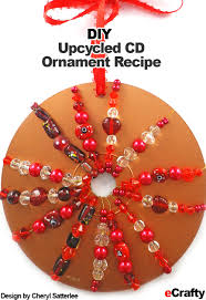 diy upcycled cd ornaments easy crafts from ecrafty