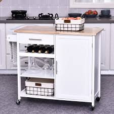 kitchen storage cabinet cart homcom rolling kitchen cart kitchen storage cart island with