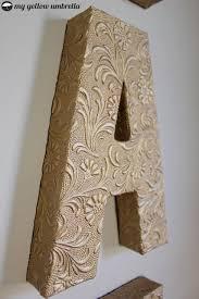 Paper Mache Ideas For Home Decor 25 Unique Paper Mache Letters Ideas On Pinterest Cardboard