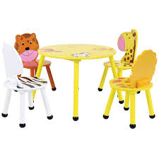 Childrens Folding Table And Chair Set Childrens Wooden Safari Table And Chairs Set Buydirect4u