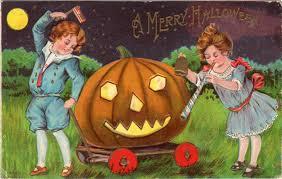 a merry halloween vintage halloween postcard via onewomanshands