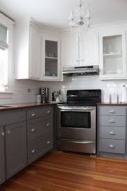 two tone kitchen cabinets with black countertops stylish two tone kitchen cabinets for your inspiration hative