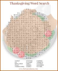 here is a free printable thanksgiving word search for grade