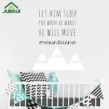 sticker pour chambre bébé style nordique montagnes citations wall sticker pour enfants chambre