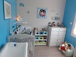 décoration chambre de bébé idée déco chambre bebe garcon bleu