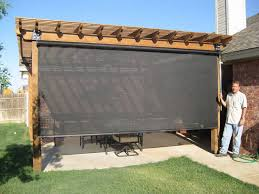 Temporary Patio Cover Patio Shade Ideas With Black Curtain Outdoors Pinterest