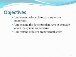 Architectural Design Styles Chapter 6 Architectural Design Ppt Download