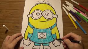 how to draw minion how to color minions despicable me minion
