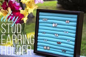 store stud earrings diy stud earring holder a easy inexpensive way to store