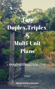 tiny duplex triplex and multiunit plans with author png
