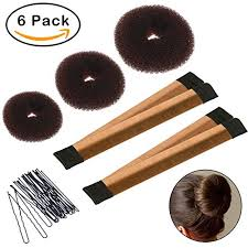 donut hair bun hair bun shaper set 3 pcs donut bun maker 2 pcs foam