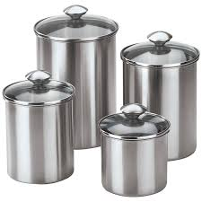 metal canisters kitchen canisters outstanding stainless steel canister set of 4 kitchen