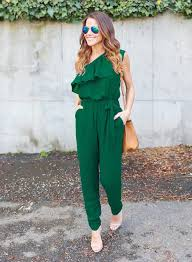 s one jumpsuit s one shoulder flounce panel chiffon jumpsuit novashe com