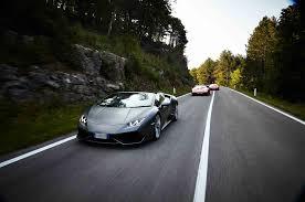 Lamborghini Aventador On Road - seven lamborghinis and an unforgettable european road trip