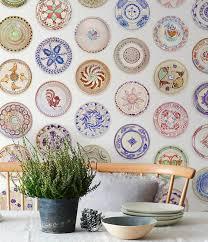 boho self adhesive wallpaper rustic plates wallpaper boho