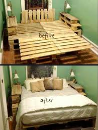 Bed Frame Made From Pallets A Few Lights In The Bottom Or More Storage And It S A