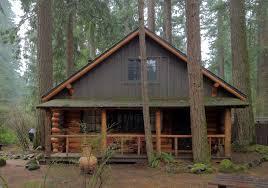 a hand hewn log cabin in the foothills of oregon u0027s mount hood