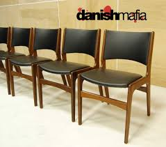 Danish Mid Century Dining Chairs by Mid Century Danish Modern Teak Dining Complete Set Table U0026 6