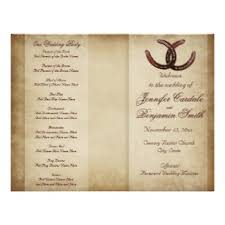 country wedding programs rustic country wedding invitations