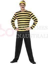where s waldo costume mens wheres wally odlaw costume yellow waldo where s wally fancy