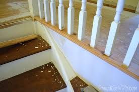 How To Refinish A Wood Banister Upstairs Hallway 2 Hardwood Spindles