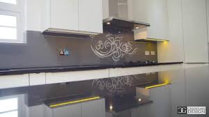 night jewels u0027 modern stencil glass kitchen splashback youtube
