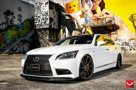lexus vossen white lexus ls 460 f sport riding high on 22