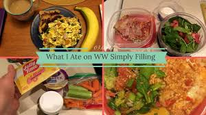 cuisine ww weight watchers what i ate on simply filling 03 06 17