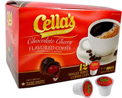cella cherry flavored coffee k cups 12 count