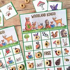 free printable halloween bingo game cards woodland bingo bugaboocity