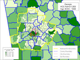 msa map using administrative data to monitor access identify disparities