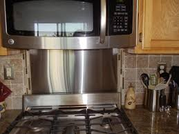 Kitchen With Stainless Steel Backsplash Frigo Design 30 In X 30 In Polished Stainless Steel Backsplash