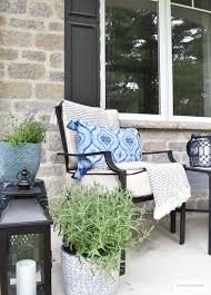 Blue And White Home Decor Spring Porch Decorated With Blue And White Accents