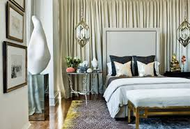 chic bedroom style curtains behind the bed megan morris