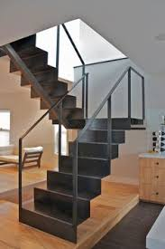 Metal Banisters Custom Stairs Chicago Modern Staircase Design Chicago Custom