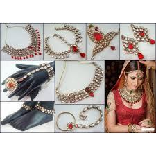 wedding necklace set red images Indian bridal wedding traditional heavy maroon kundan necklace set jpg